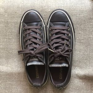 Converse overseas leather low tops